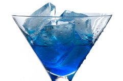 Cocktail with blue curacao Stock Images