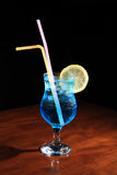 Cocktail with blue curacao Royalty Free Stock Photo