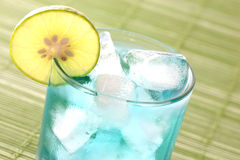 Cocktail blue curacao with lemon Royalty Free Stock Photo
