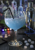 Cocktail, blue drink Royalty Free Stock Photos