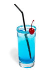 Cocktail blue lagoon Royalty Free Stock Photo