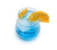 Cocktail blue lagoon Stock Photos