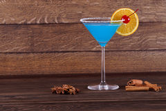 Cocktail Blue Lagoon. Light blue cocktail Royalty Free Stock Images