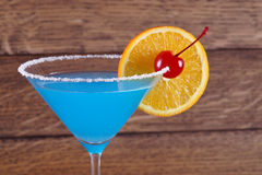 Cocktail Blue Lagoon. Light blue cocktail Royalty Free Stock Photography