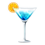 Cocktail blue Royalty Free Stock Photos