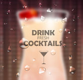Cocktail blurred background Stock Photography