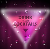Cocktail blurred background Royalty Free Stock Photo