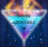 Cocktail blurred background Stock Image
