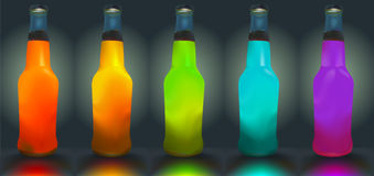 Cocktail bottles. Royalty Free Stock Photos
