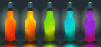 Cocktail bottles. Royalty Free Stock Photos