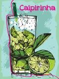 Cocktail Caipirinha di estate Fotografie Stock