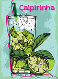 Cocktail Caipirinha do verão Fotos de Stock