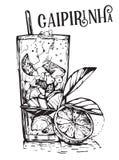 Cocktail Caipirinha do verão Imagem de Stock Royalty Free