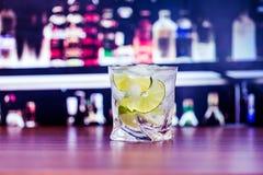 Cocktail. Caipirinha gin vodka drink tequila lime Stock Photography