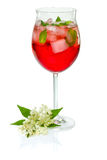 Cocktail with campari Royalty Free Stock Image