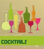 cocktail card Royalty Free Stock Image