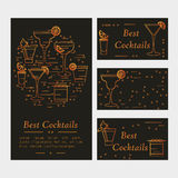 Cocktail card template Stock Photography