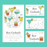 Cocktail card template Royalty Free Stock Photo