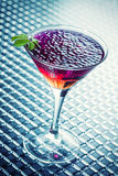 Cocktail with caviar and whisky Royalty Free Stock Images