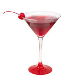 Cocktail cerise alcolici fotografia stock