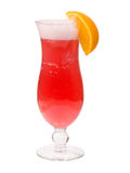 Cocktail cerise tropicale isolato fotografie stock