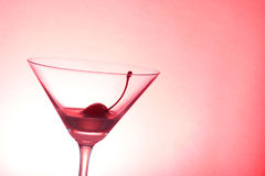 Cocktail & cherry Stock Photography