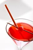 Cocktail with cherry Stock Photos