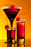 Cocktail with  cherry Stock Photo
