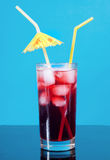 Cocktail  with cherry closeup Stock Image