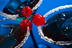 Cocktail with cherry Stock Photography