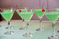 Cocktail. With cherry, low alcohol Royalty Free Stock Images