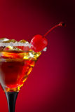 Cocktail with cherry Royalty Free Stock Photos