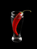 Cocktail with chilli pepper isolated Royalty Free Stock Photo
