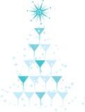 Cocktail Christmas. Cockatil Glass Pyramid, Christmas Cocktail Tree. Christmas Party Stock Photos