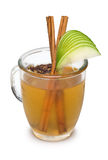 Cocktail with Cinnamon, Green Apple and Clove Stock Image