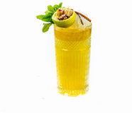 Cocktail with citrus liqueur and whiskey Royalty Free Stock Photo