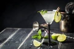 Cocktail clássico fresco do margarita do cal imagem de stock