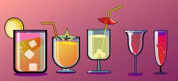 Cocktail clássicos ilustração stock