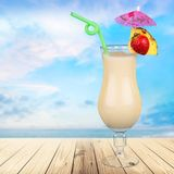 Cocktail. Pina colada drink pineapple tropical drink drinking umbrella Royalty Free Stock Photos