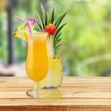 Cocktail. Pina colada pineapple juice tropical drink drink fruit stock photos