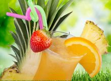 Cocktail. Pina colada pineapple juice tropical drink drink fruit Royalty Free Stock Photo