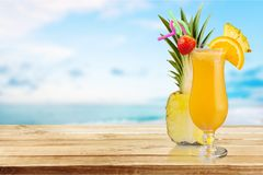 Cocktail. Pina colada pineapple juice tropical drink drink fruit Stock Images