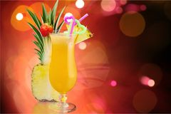 Cocktail. Pina colada pineapple juice tropical drink drink fruit Stock Image