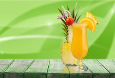 Cocktail. Pina colada pineapple juice tropical drink drink fruit stock photography