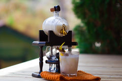 Cocktail with a coco Stock Photo
