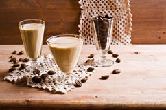 Cocktail of coffee and cream Royalty Free Stock Photos