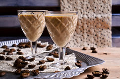 Cocktail of coffee and cream Royalty Free Stock Photo