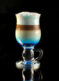 Cocktail with coffee and whipped milk Royalty Free Stock Photos