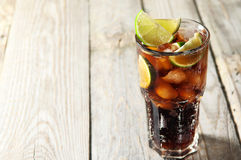 Cocktail with cola and ice Royalty Free Stock Image