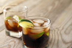 Cocktail with cola and ice Stock Photography